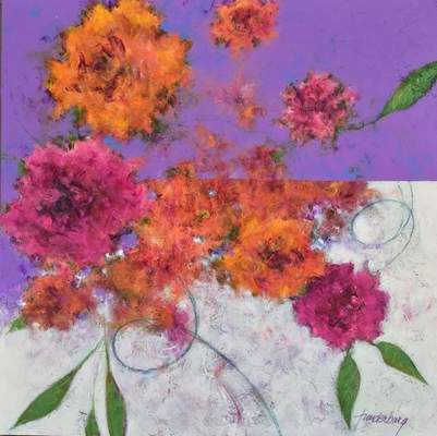 Work by artist Kathy Funderburg is on exhibit at the Orchard Gallery.