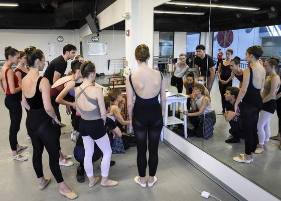 """Pratt, a Butler University professor and former professional dancer, is among outside choreographers to be part of the Ballet's 2021-22 season. Her piece, """"Departure From Fifth Position,"""" uses a dozen dancers."""
