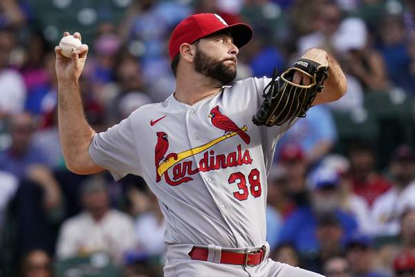 St. Louis Cardinals relief pitcher Kodi Whitley throws against the Chicago Cubs during the seventh inning of a baseball game in Chicago, Sunday, Sept. 26, 2021. (AP Photo/Nam Y. Huh)