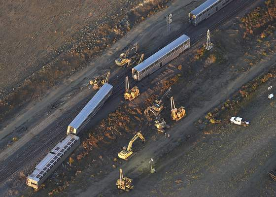 Associated Press A 14-member team of investigators is looking into the cause of a derailment that killed three and hospitalized seven outside Joplin, Mont.