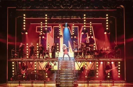 Tony Awards  - Tina: The Tina Turner Musical This image released by Polk & Co. shows Adrienne Warren in a scene