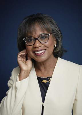 Anita Hill poses for a portrait in New York on Sept. 21, 2021 to promote her book, Believing: Our Thirty-Year Journey to End Gender Violence, releasing on Sept. 28. (Photo by Taylor Jewell/Invision/AP)