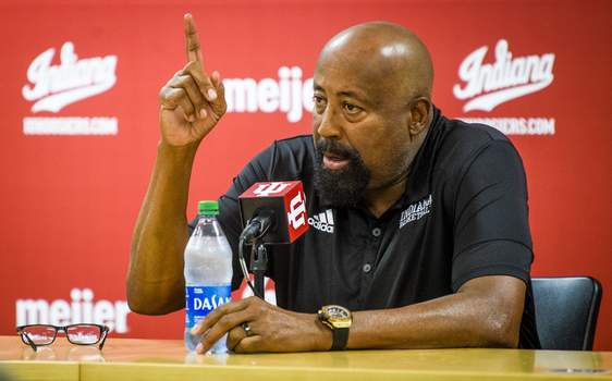 Indiana Media Day Basketball Associated Press Indiana basketball coach Mike Woodson wants the Hoosiers to aspire to a national title. (Rich JanzarukMBR)