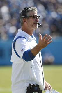 Colts Titans Football Associated Press Indianapolis coach Frank Reich is searching for a way to turn the Colts' season around. Indianapolis (0-3) plays at Miami on Sunday.  (John AmisFRE)