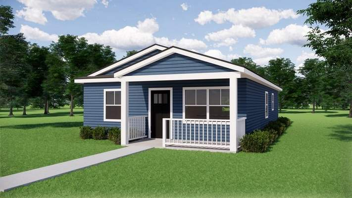 Courtesy  Rendering of three-bedroom, one-bath home Habitat for Humanity will have built at 2727 Holton Ave. and gift to Vincent Village.