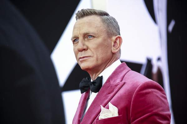 Associated Press  Daniel Craig poses for photographers upon arrival for the World premiere of the film 'No Time To Die', in London onSept. 28.