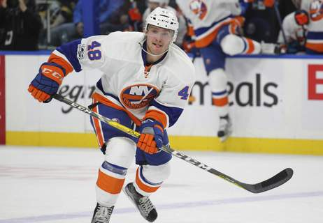 Islanders Sabres Hockey Associated Press  Connor Jones skates for the New York Islanders in 2017. He is expected to be one of the Komets' top players this season. (Jeffrey T. Barnes FRE)