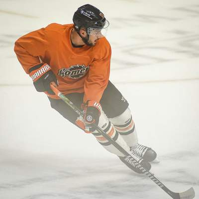 Mike Moore | The Journal Gazette As one of six returning Komets from the Kelly Cup winning team, Anthony Petruzzelli will look to lead by example this season.