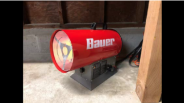 Recalled Bauer forced air propane portable heater.
