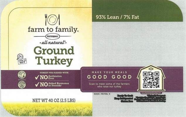 Affected product label.