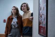 Film Review - Halloween Kills This image released by Universal Pictures shows Andi Matichak, left, and Dylan Arnold in