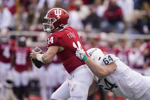 Michigan St Indiana Football Associated Press Quarterback Jack Tuttle is likely to make his second straight start Saturday in place of the injured Michael Penix Jr. (Darron CummingsSTF)