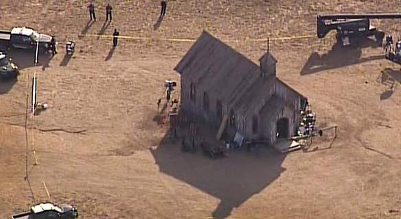 Prop Firearm Movie Set Associated Press This video image from KOAT 7 News shows Santa Fe County sheriff's officers at the scene of a fatal accidental shooting at a movie set near Santa Fe, N.M. (TEL)