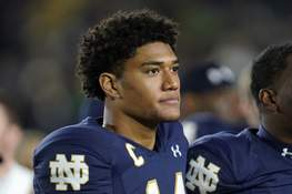USC Notre Dame Football Associated Press Notre Dame safety Kyle Hamilton will miss Saturday night's game against North Carolina with an injury he suffered in the win over USC. (Paul SancyaSTF)