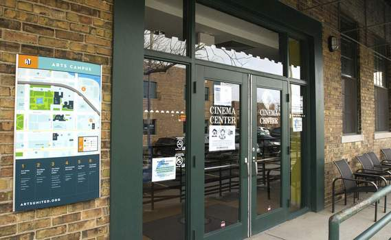 File  Cinema Center will reopen Nov. 12. To help with social distancing, the entrance will temporarily be moved to Berry Street instead of these doors on the north end of the building.