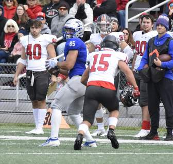 Michelle Davies | The Journal Gazette Saint Francis senior wide receiver Jay Segal believes the team can turn things around.