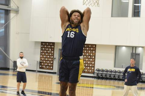 Courtesy Fort Wayne Mad Ants Justin Anderson practices Wednesday with the Mad Ants in Indianapolis.