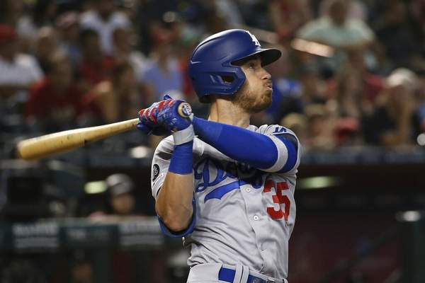 Ross D. Franklin, File | Associated PressFILE - In this Sept. 1, 2019, file photo, Los Angeles Dodgers' Cody Bellinger watches the flight of his home run against the Arizona Diamondbacks during the ninth inning of a baseball game in Phoenix. Bellinger agreed Friday, to an $11.5 million, one-year contract with the Dodgers, the largest salary for a player eligible for arbitration for the first time.