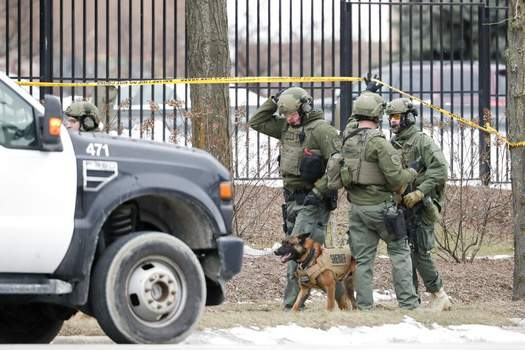 Morry Gash | Associated PressPolice work outside the Molson Coors Brewing Co. campus in Milwaukee on Wednesday, after reports of a possible shooting.