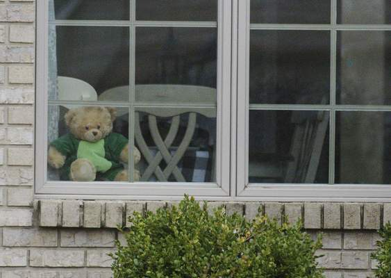 Homes in The Falls and Laurel Ridge neighborhoods have placed teddy bears in front windows and on porches to provide a scavenger hunt for neighborhood children.