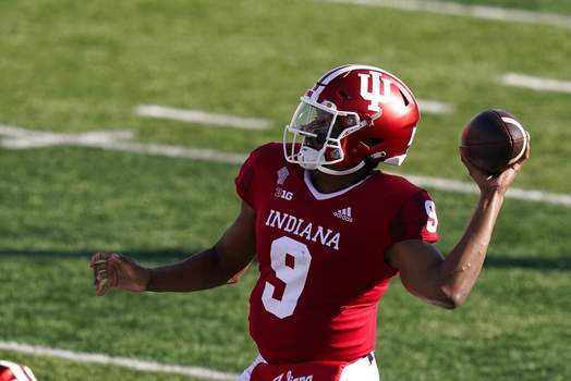 Darron Cummings   Associated PressIndiana quarterback Michael Penix Jr. (9) throws during the first half of an NCCAA college football game against Penn State, Saturday, in Bloomington, Ind.
