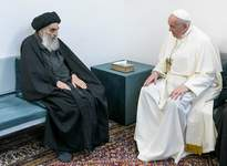 Associated Press Pope Francis meets with Iraq's leading Shiite cleric, Grand Ayatollah Ali al-Sistani, on Saturday in Najaf, Iraq, during his historic visit to the country.