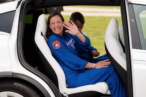 Associated Press NASA astronaut Megan McArthur waves as she leaves a news conference at Kennedy Space Center in Cape Canaveral, Fla., Friday as SpaceX Crew 2 prepares for a mission to the International Space Station that begins April 22.
