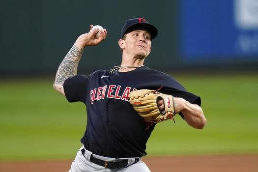 Elaine Thompson | Associated PressCleveland Indians starting pitcher Zach Plesac throws to a Seattle Mariners batter during the fifth inning of a baseball game Thursday, in Seattle.