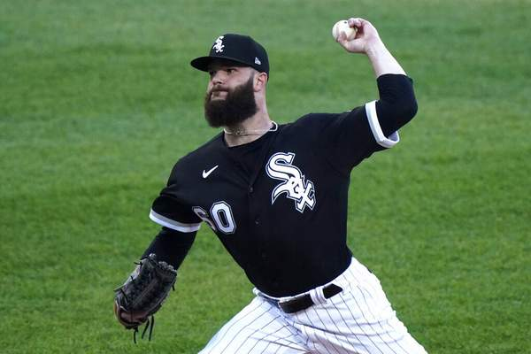 Nam Y. Huh | Associated PressChicago White Sox starting pitcher Dallas Keuchel throws to a Toronto Blue Jays batter during the first inning of a baseball game in Chicago, Thursday.